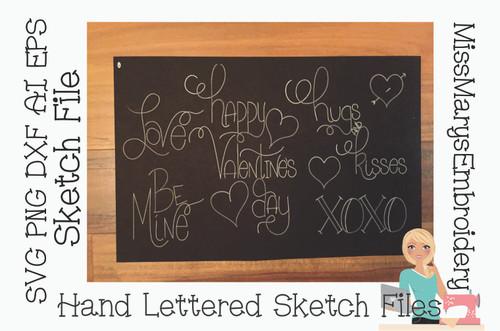 Valentine Sketch File Set
