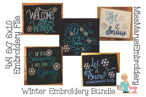 Winter Embroidery Bundle