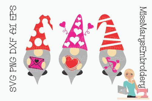 Valentine's Day Garden Gnomes