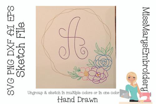 Flower Sketch File Set