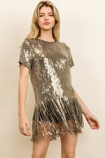 Sequin Fringe Party Tee