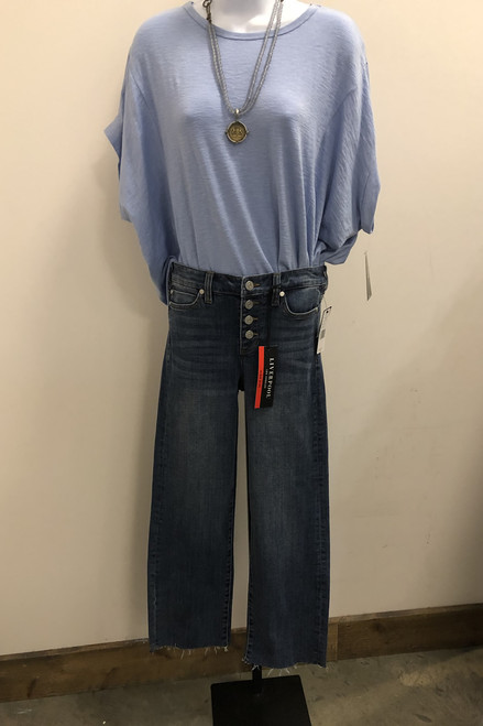 High-Waisted Button Fly Jeans