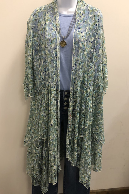 Lace Floral Duster