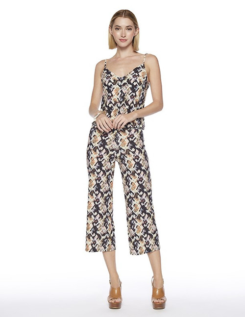 Punk Cropped Jumpsuit in Sid Print