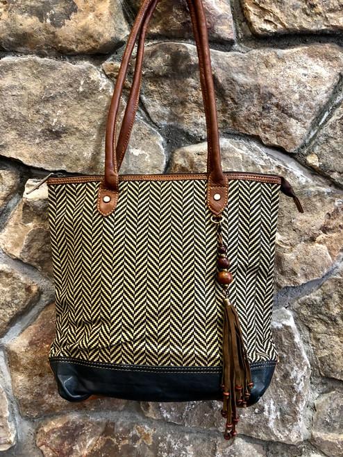 Genuine leather handmade tote