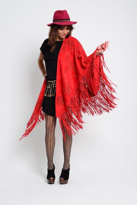 Red wool fedora
