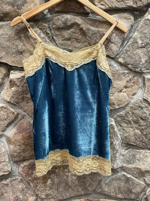Velvet and lace cami