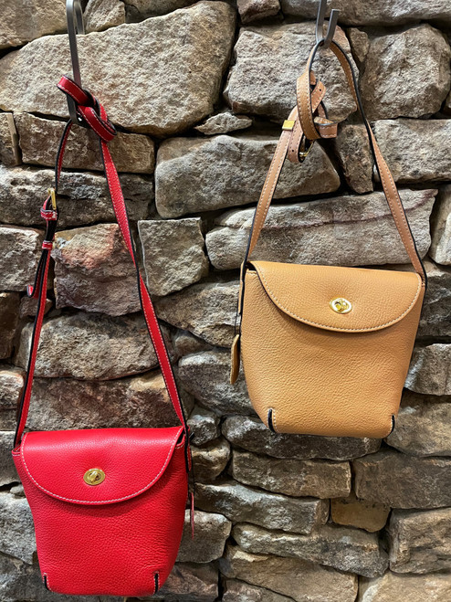 Front Lock Leather Bag