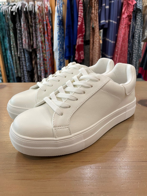 Basic Faux Leather Sneaker