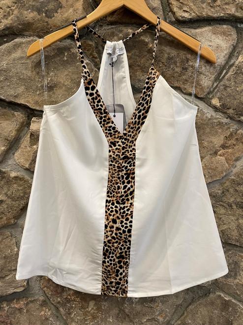 Leopard halter top