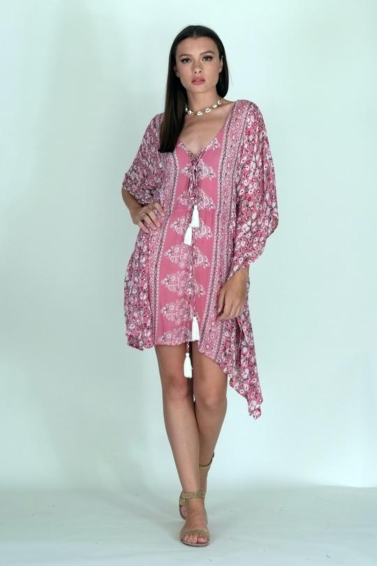 Bright Floral Cover Up
