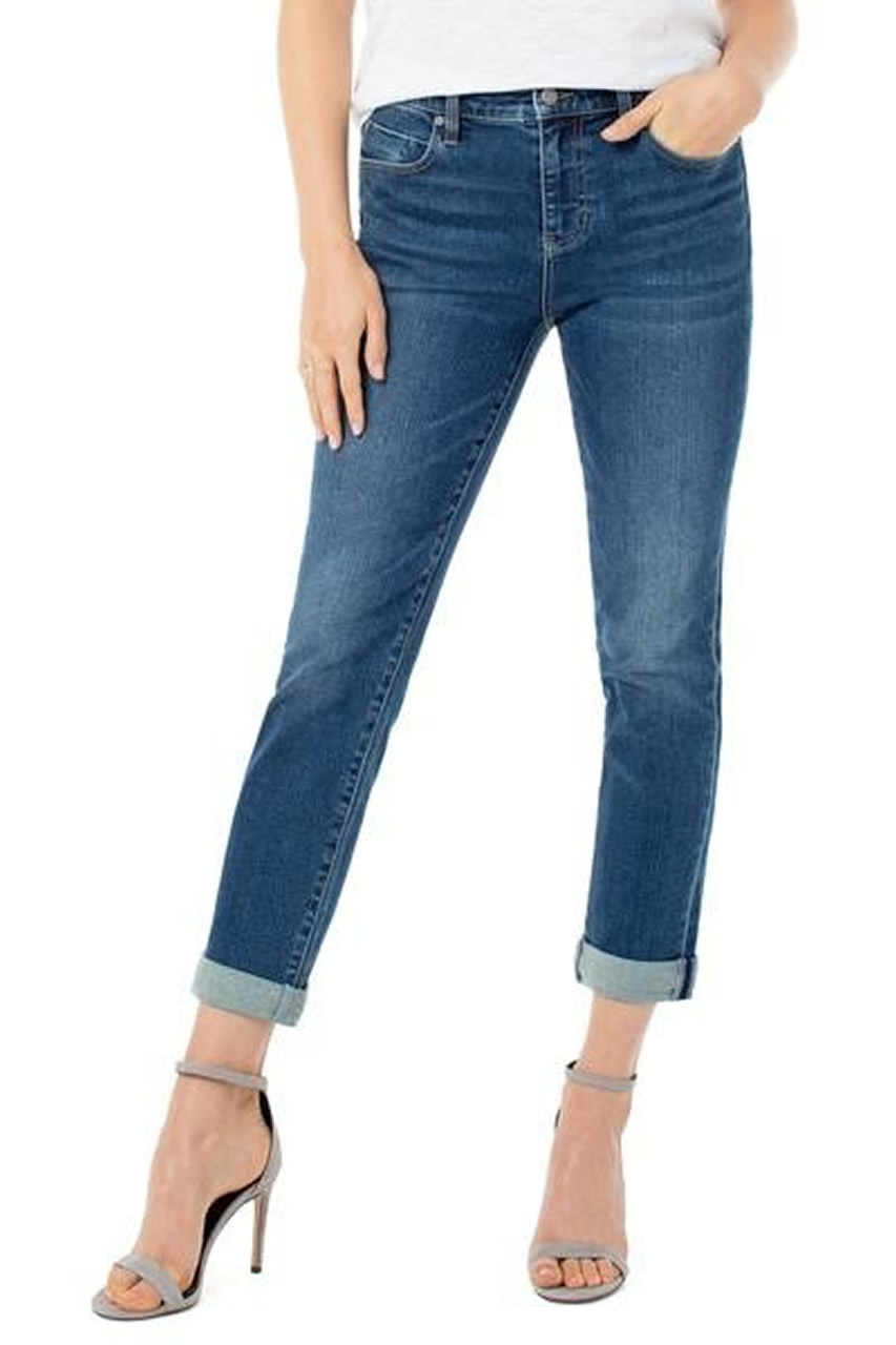 Liverpool Marley Double Cuff Girlfriend Jeans