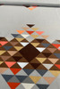 Woven cotton   Geometric browns Now $12/mt