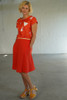 Side view with Tilly Top Teki Coral