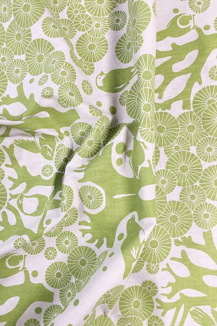Linen Fabric | Mikko - lime $56/mt