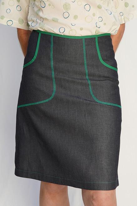Avril Denim Skirt | Green