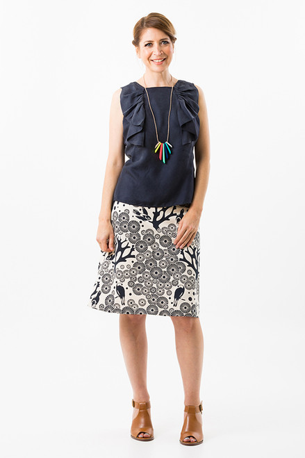 A-line Skirt - Mikko - ink natural (short)