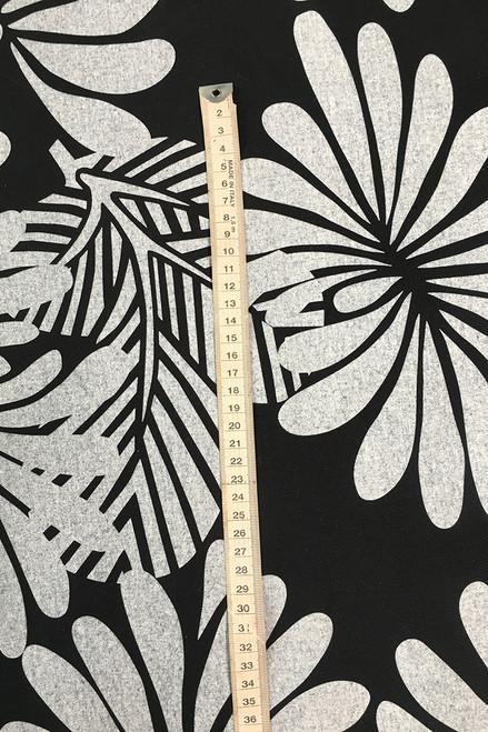 Canvas Fabric   Japanese Floral - black $48/mt -  $12/quarter mt
