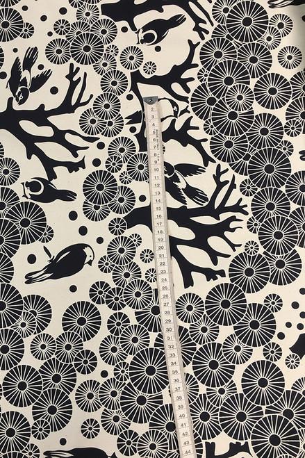 Drill Fabric | Mikko - ink  $40/mt -  $10/quarter mt
