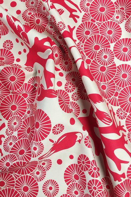 Drill Fabric   Mikko - lipstick $40/mt