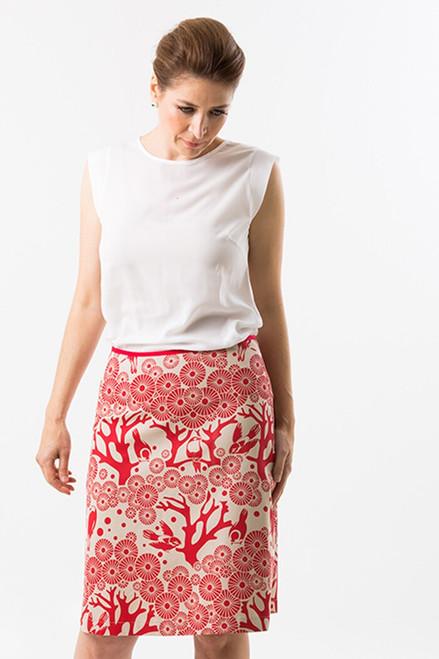 Drill Fabric | Mikko - lipstick $40/mt -  $10/quarter mt