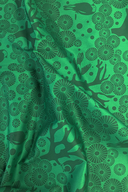 Drill Fabric | Mikko - emerald $40/mt -  $10/quarter mt