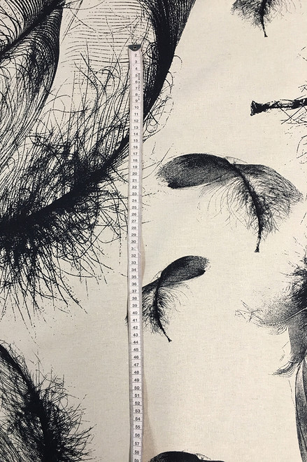 Hemp Fabric | Feather - ink/natural $40/mt