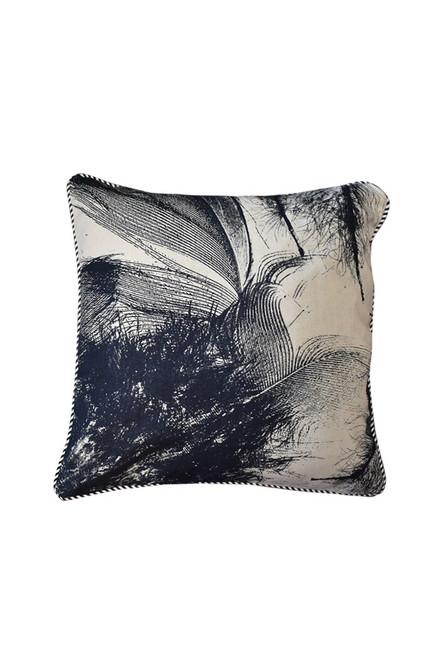 Hemp Fabric | Feather - ink/natural $40/mt -  $10/quarter mt