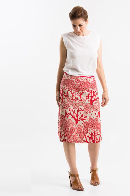 A-line Skirt Long | Mikko lipstick/chino