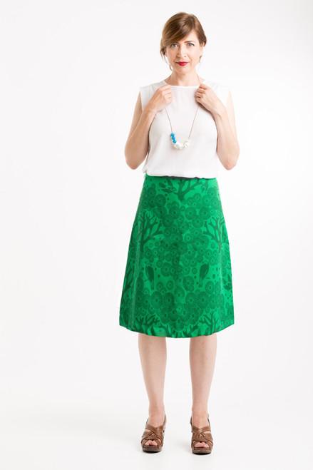 A-line Skirt - Mikko emerald/green (long)