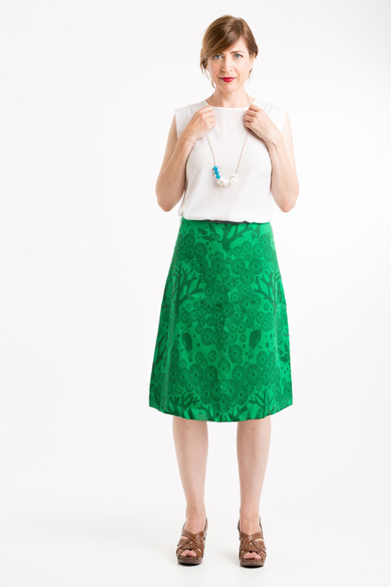 A-line Skirt Long | Mikko emerald/green