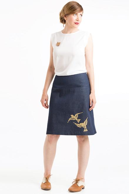Panel Skirt | 2 Birds putty