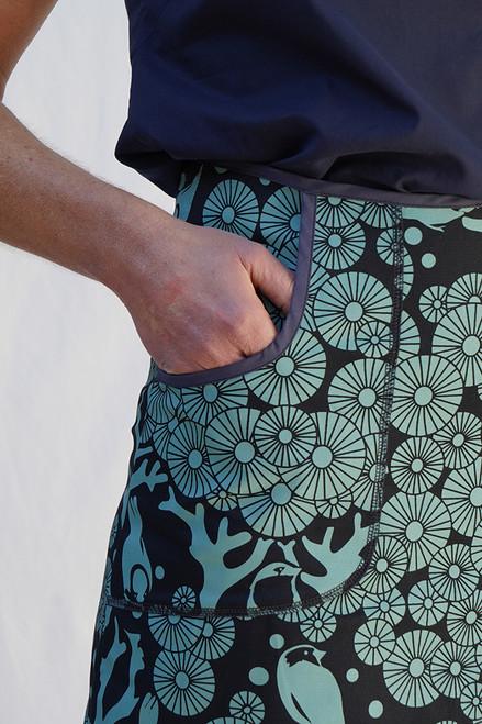 Avril Skirt Short | Mikko ink/sea green