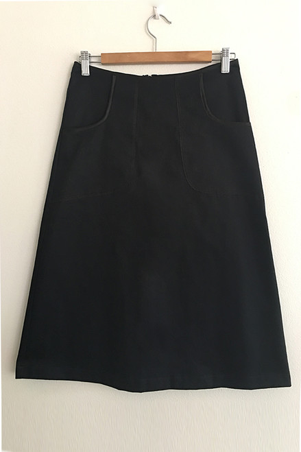 Avril Skirt Long | Plain black