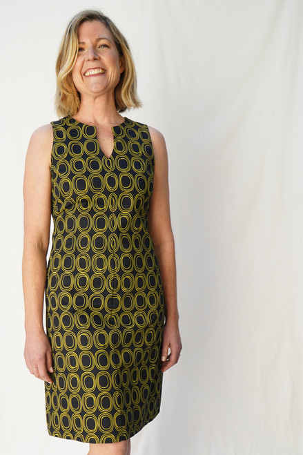 Tunic Dress | Hinter green/ink