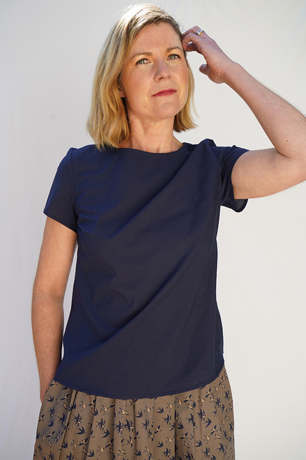 Shelley Top | Plain navy