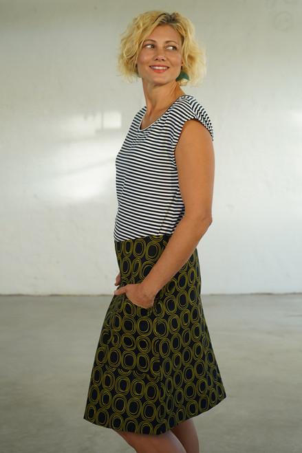 Heidi Skirt short | Hinter green/ink