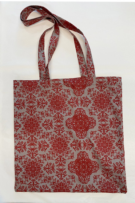 Library Bag   baroque red