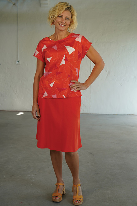 Front view with Tilly Top Teki Coral