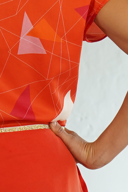 Detail with Tilly Top Teki Coral