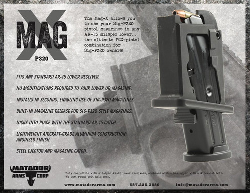 Matador Arms Mag-X (P320) AR-15 Magazine Adapter