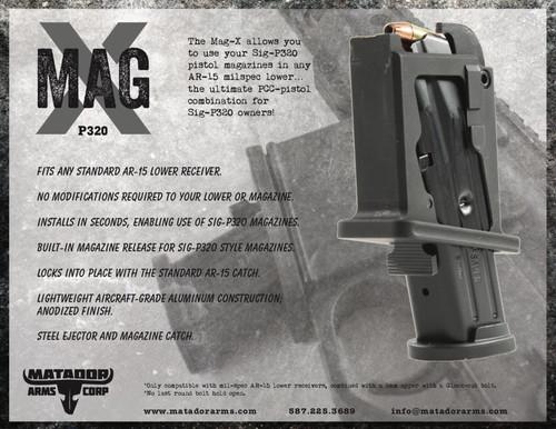 Matador Arms Mag-X (P320) AR-15 Magazine Adapter