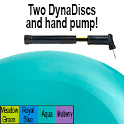 Exertools Dynadiscs 2-Pk (incl Hand Pump) - Aqua