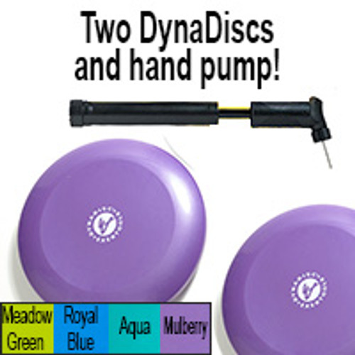 Exertools Dynadiscs 2-Pk (incl Hand Pump) - Mulberry