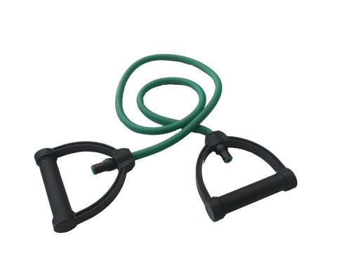 Exertools ExerTube - Tubing with Handles Medium Resistance - Green (EXRTH-MD)