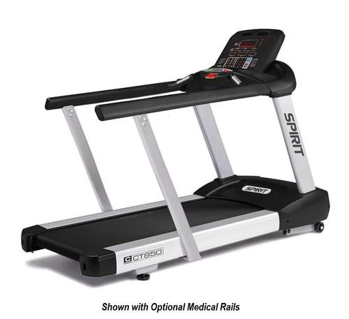 Spirit Fitness CT850 Treadmill Medical Handrails Option