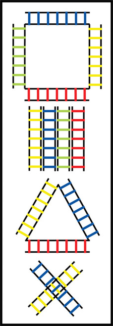 4M SECTIONED AGILITY LADDER SET