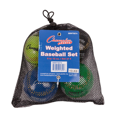 WEIGHTED TRAINING BASEBALLS SET OF 4
