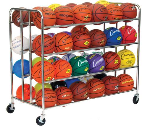 48 BALL DOUBLE WIDE BALL CART