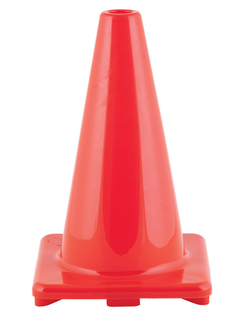 12 INCH HIGH VISIBILITY FLEXIBLE VINYL CONE ORANGE